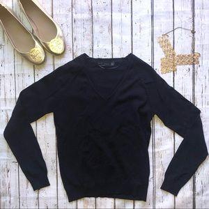 Zara Navy Blue V-Neck Sweater | EUC, Like 🆕